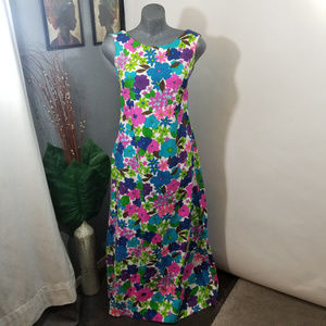 Vintage 1960s Floral Dress Size Small